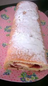 biscuit roulé garni de confiture sans sucre ajouté