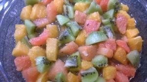 Salade de fruits acidulée