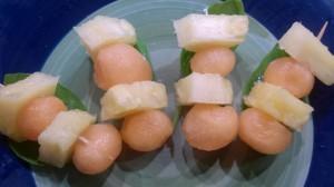 brochette melon ananas