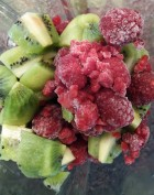 Smoothie framboise kiwi par E Giudicelli Dieteticienne